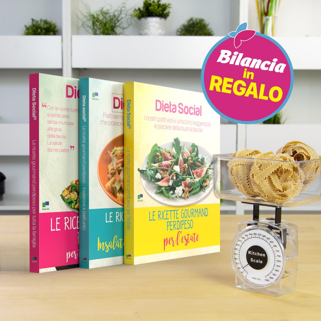 Le ricette gourmand perdipeso - 3 volumi più bilancia IN REGALO