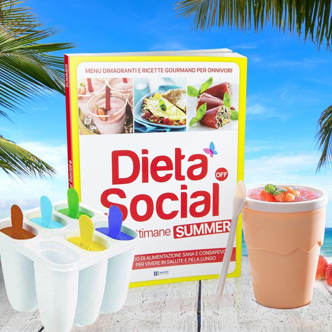 Dieta Social OFF Summer (ESTATE) per ONNIVORI + Stampo ghiaccioli + Bicchiere per granite gelati
