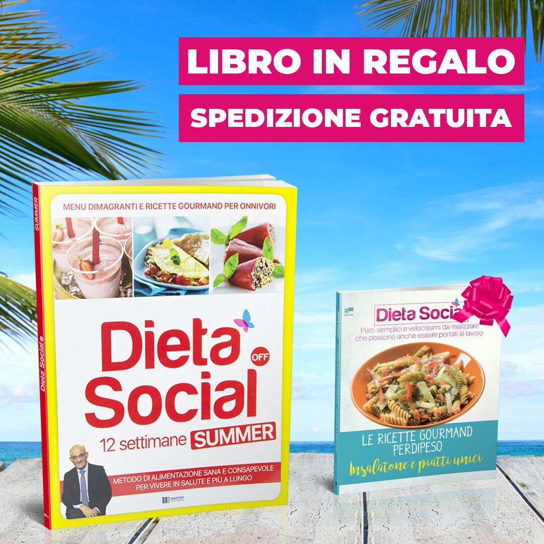 Dieta Social OFF Summer (ESTATE) per ONNIVORI (con 3 mesi di menu e ricette) + INSALATONE E PIATTI UNICI