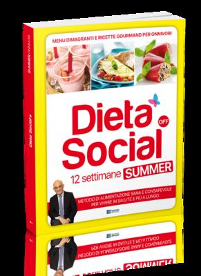 Dieta Social OFF Summer (ESTATE) per ONNIVORI (con 3 mesi di menu e ricette)