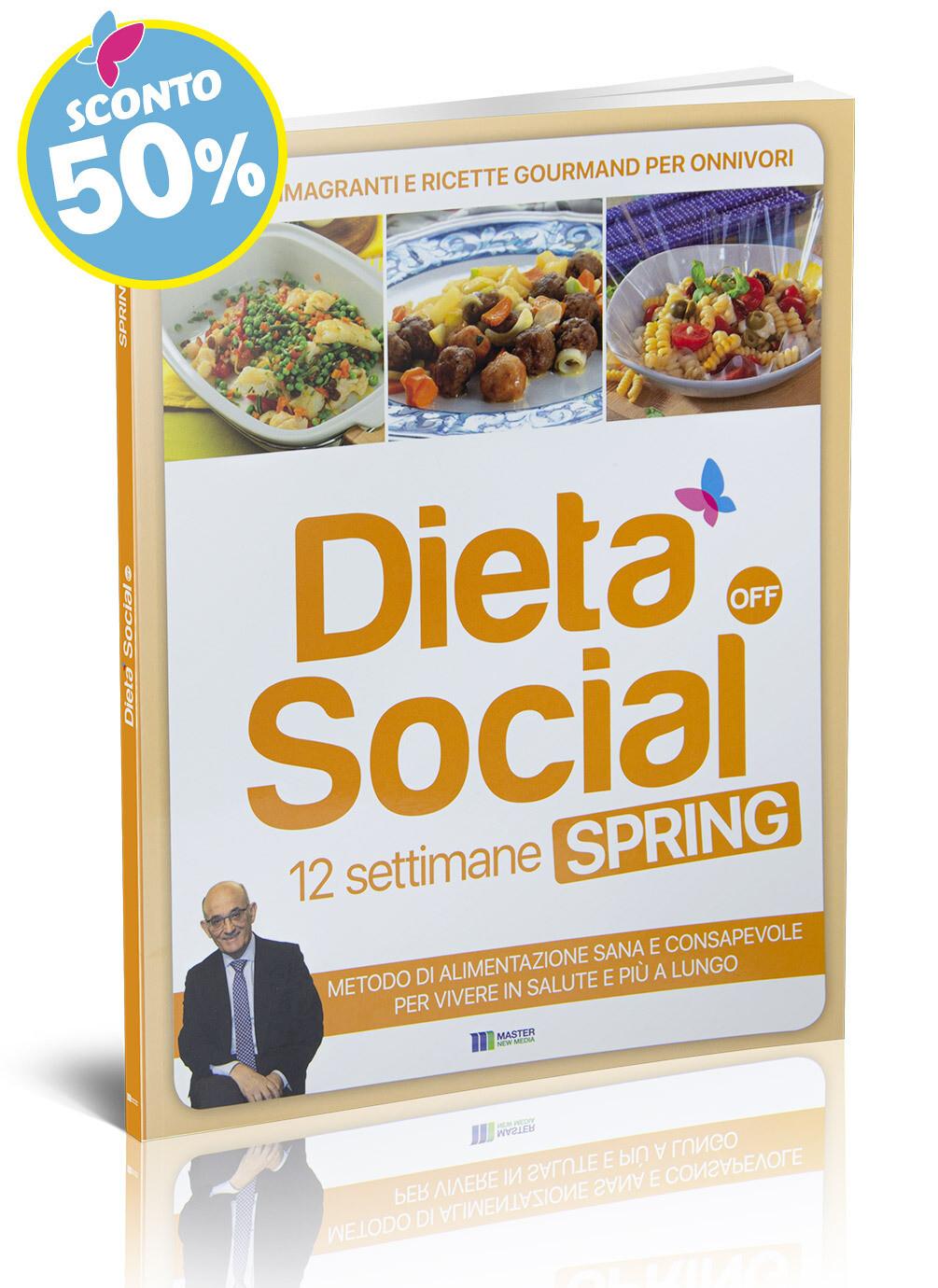 Dieta Social OFF Spring (PRIMAVERA) con 3 mesi di menu e ricette - per ONNIVORI