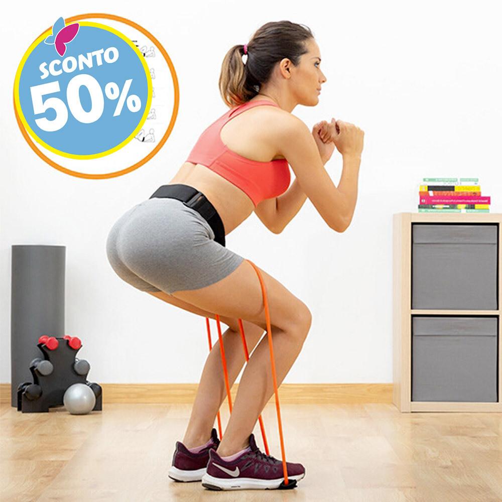 Cintura fitness con elastici per squat
