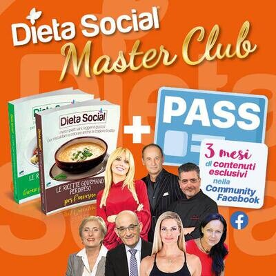 2 Ricettari gourmand + PASS 3 mesi Dieta Social Master Club