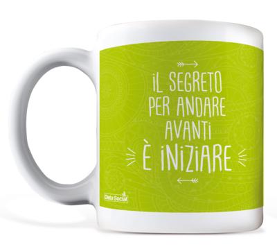 """Tazza in ceramica - """"IL SEGRETO PER ANDARE AVANTI E' INIZIARE"""""""