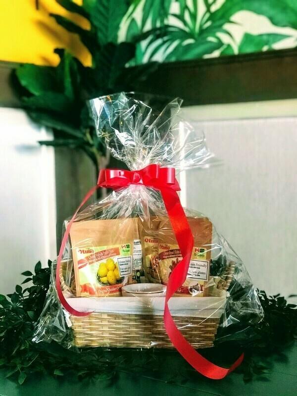 3 x Otimo Mixes + 1 Cup Gift Basket - Vegan