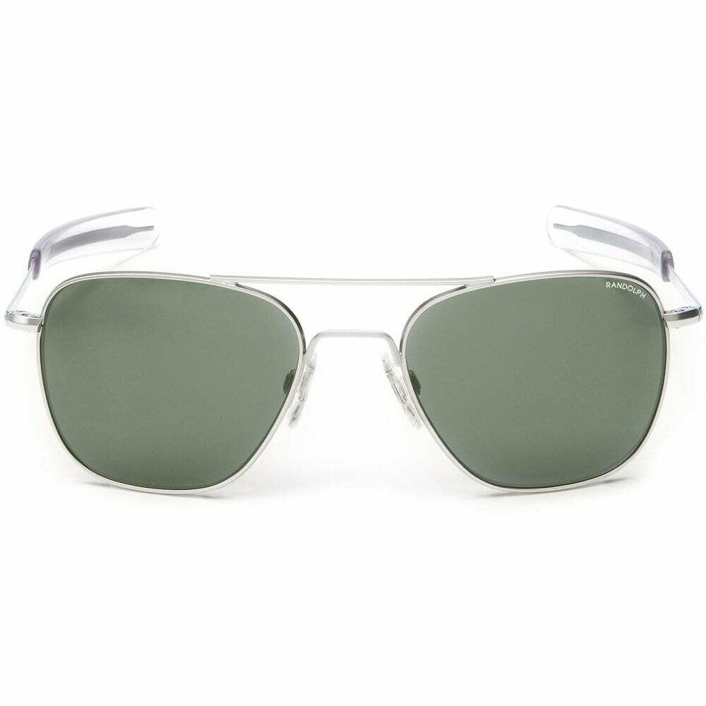 Randolph Aviator Skytec Bright Chrome Frame Sunglasses