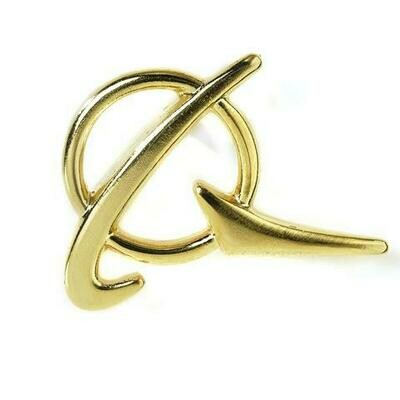 Boeing Gold Polished Pin Badge