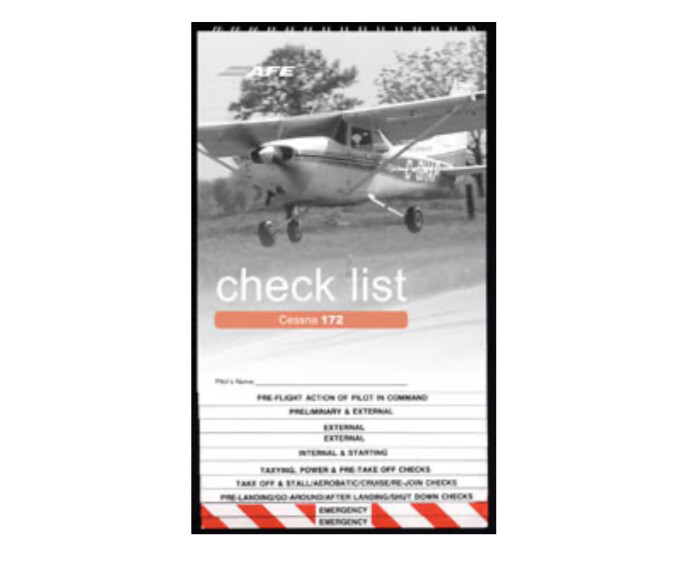 Cessna 172 Aircraft Checklist