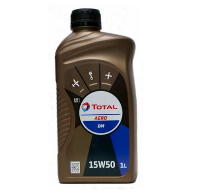 Total Aero DM 15W50 Piston Engine Oil - 1 Litre Bottle