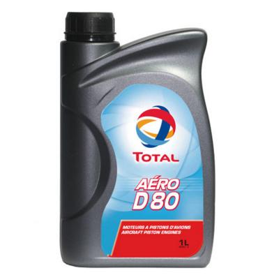 Total Aero D 80 Piston Engine Oil - 1 Litre Bottle