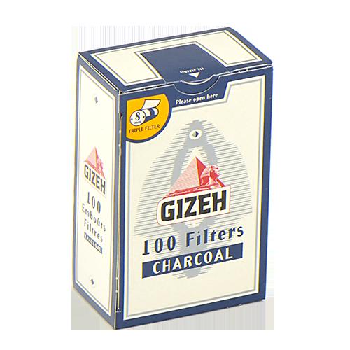 Фильтры для самокруток 8мм УГОЛЬНЫЕ Gizeh Standard 100 шт