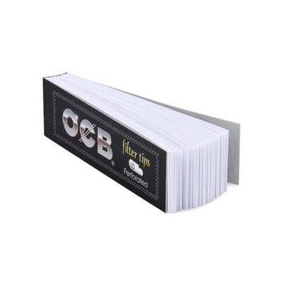 Бумажные фильтры для самокруток OCB Filter Tips Perforated (черная) - (50 шт.)