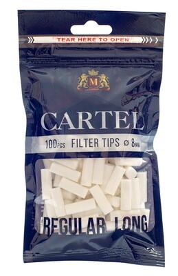 Фильтры для самокруток 8мм Cartel LONG (Чёрные) - (100 шт)