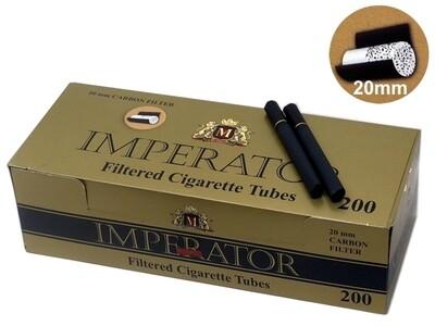 Сигаретные гильзы Imperator Black Gold - CARBON Filter 20mm (200 шт.)