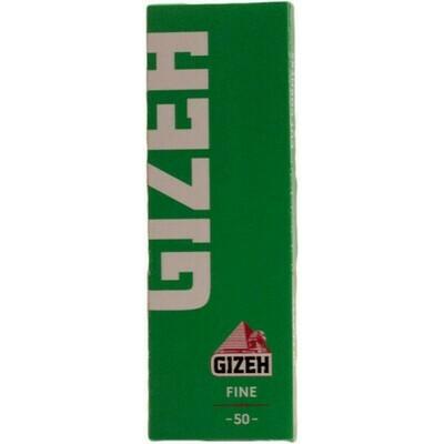 Бумага сигаретная GIZEH Fine Зеленая Cut Corners (скошенный угол) 50 шт