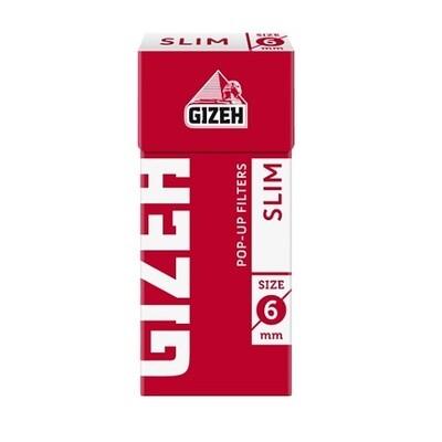 Фильтры  для самокруток 6 мм Gizeh Slim (Красные) (В коробке 102 шт.)