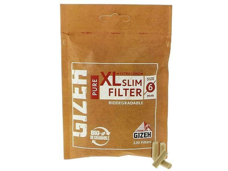 Фильтры для самокруток 6мм Gizeh XLSlim Biodegradable (120 шт)