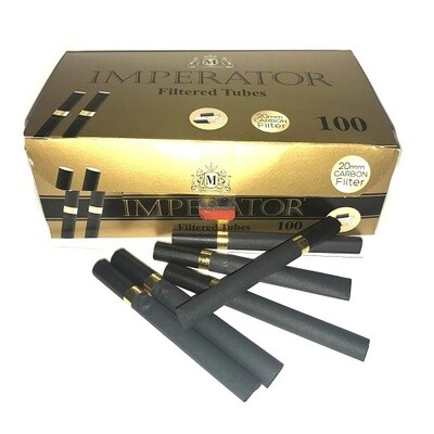 Сигаретные гильзы Imperator Black Gold - CARBON Filter 20mm (100шт.)