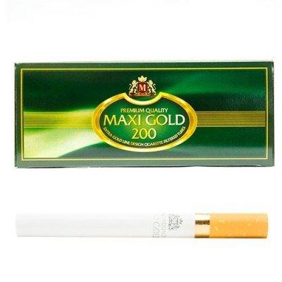 Сигаретные гильзы Maxi Gold Зеленые (200 шт.)