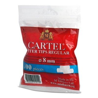 Фильтры для самокруток 8мм Cartel Regular (100 шт) - (пакет)