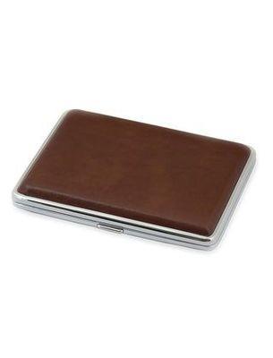 Металлический портсигар с декоративным оформлением 06350