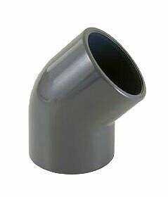 PVC limböj 45° - 50 mm