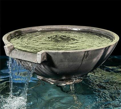 Vattenfallsskål mörkgrå