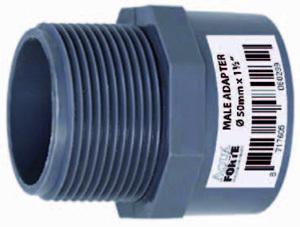 Nippel rör- gänga - 50 mm