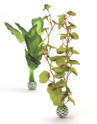Växtset siden medium grön 2 st