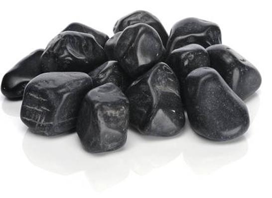 Kiselstenar svarta