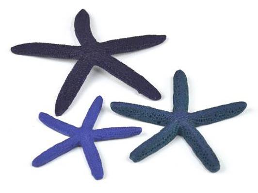 Sjöstjärnor blå set 3st