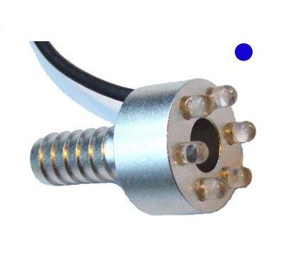 LED ring 6 dioder blå