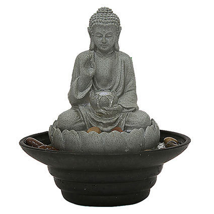 Buddha med skål Bordsfontän
