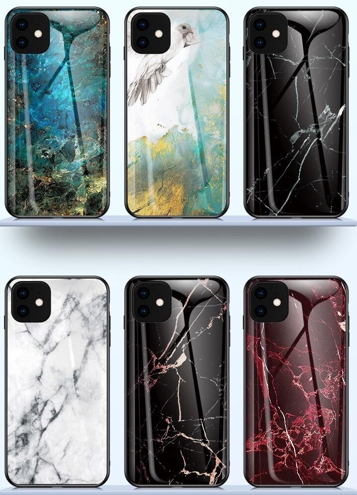 Apple iPhone 12 Mini ( 2020 5.4 inch )Glass Stone Back Cover Case