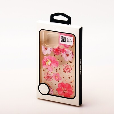 Apple iPhone 12 Pro Max ( 2020 6.7 ) Clear Flower Back Case