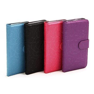 Apple iPhone 7 Plus / 8 Plus ( 5.5 ) Rose Embossed book case