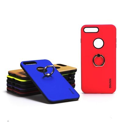 Apple iPhone 7 8 Tough Back Case with Finger Ring