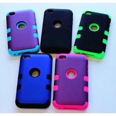 Apple iPhone 4 / 4s ( 3.5 inches ) Tough Back Case (3 Pieces)