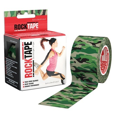 Кинезиотейп RockTape 5см х 5м, Green Camouflage