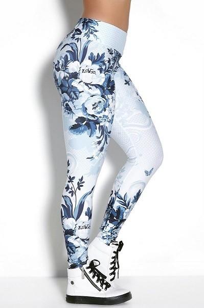 Лосины женские Rock Code Legging Elastic Winter Roses