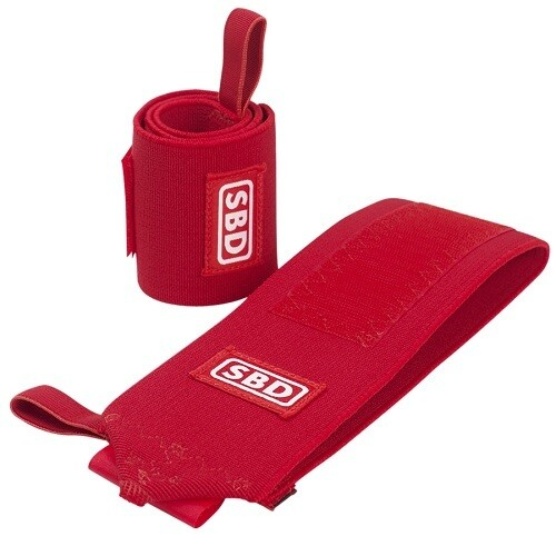 SBD жесткие  кистевые бинты для жима (лимитированная серия RED)
