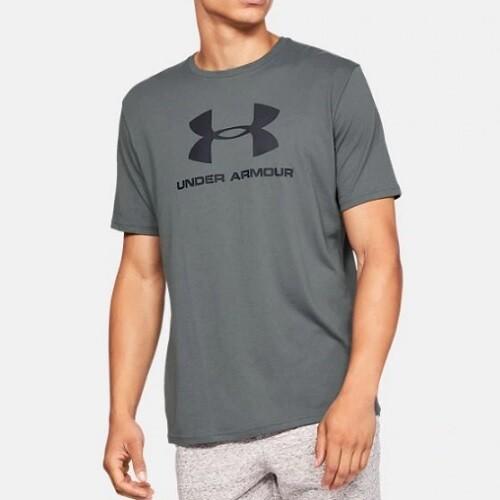 Мужская спортивная футболка Under Armour Sportstyle Logo Pitch GRAY