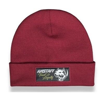 Мужская спортивная шапка Amstaff Loyalty Beanie Bordeaux