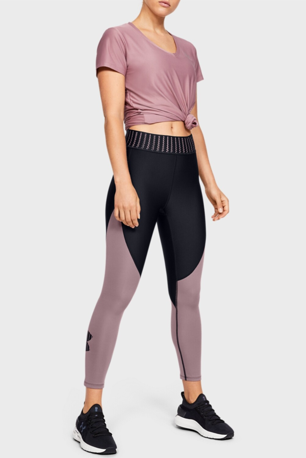 Леггинсы Women's HG Color Block Graphic Ankle Crop Under Armour
