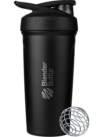 Шейкер BlenderBottle® STRADA Stainless Steel Full Color Black, 709 мл