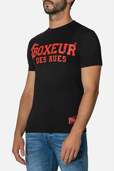 Спортивная мужская футболка BOXEUR STREET 2 BLACK-RED