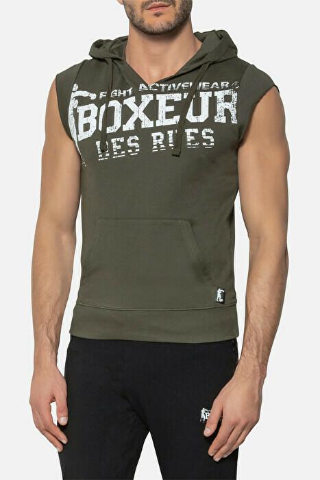 Спортивная мужская безрукавка Boxeur BIG PRINT SWEAT KHAKI