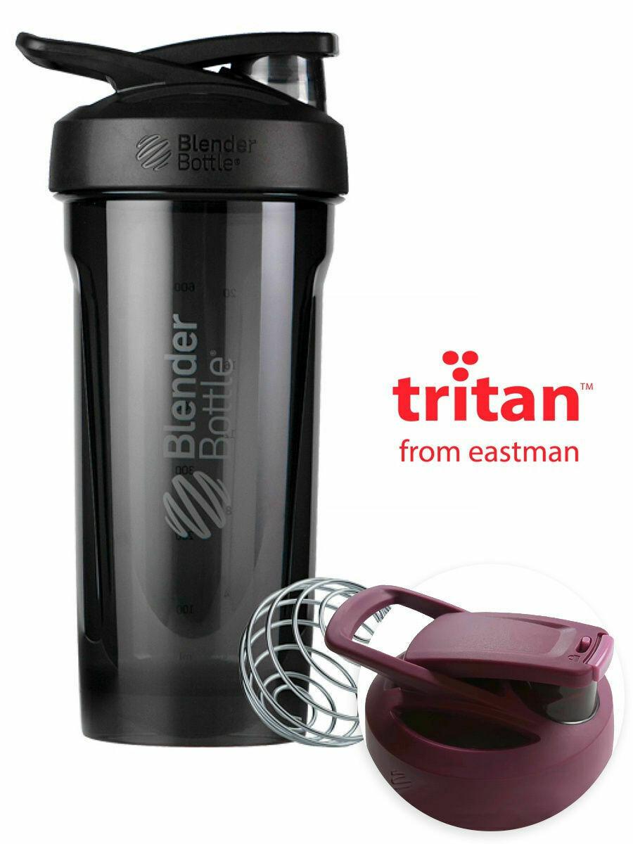 Шейкер Strada Tritan™ Full Color 828мл Black BLENDERBOTTLE