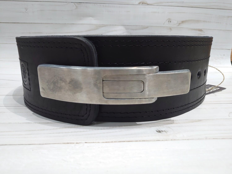 Кожаный пояс-ремень для пауэрлифтинга COBRA с карабином