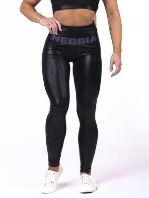 "Леггинсы High waist ""Sandra D"" glossy leggings Black Nebbia"